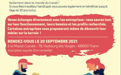 MISSION LOCALE THUR DOLLER : Journée rencontre le 20/9/21