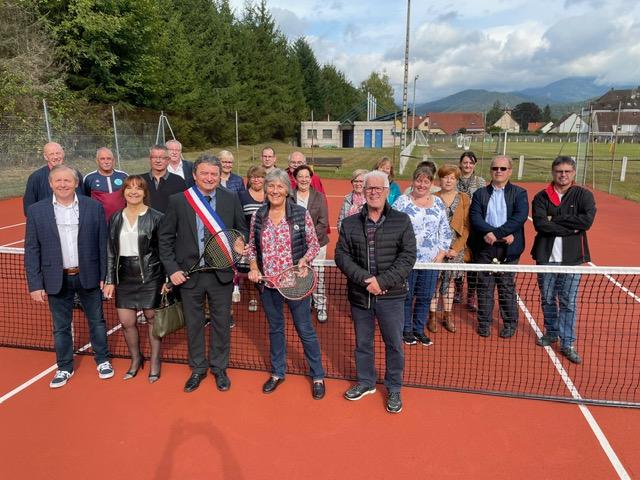 Rénovation du court de tennis